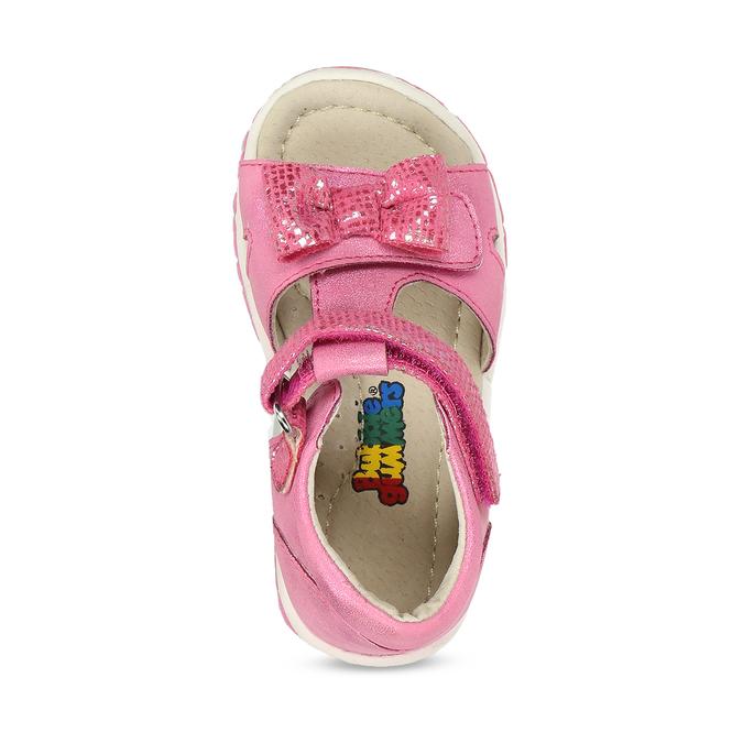 Růžové dětské sandály s mašličkou bubblegummers, růžová, 161-5613 - 17