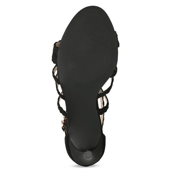 Černé dámské sandály na jehlovém podpatku bata, černá, 769-6606 - 18
