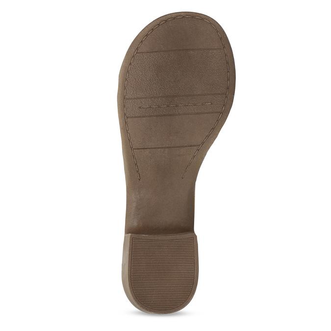 Světle hnědé dámské kožené sandály bata, hnědá, 664-4615 - 18