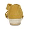 Kožené dámské sandály na klínku bata, žlutá, 563-8601 - 15