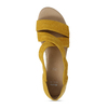 Kožené dámské sandály na klínku bata, žlutá, 563-8601 - 17