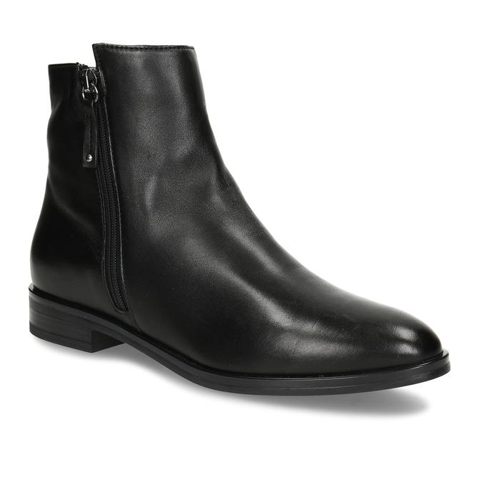 Dámská obuv z černé kůže ke kotníkům bata, černá, 594-6697 - 13