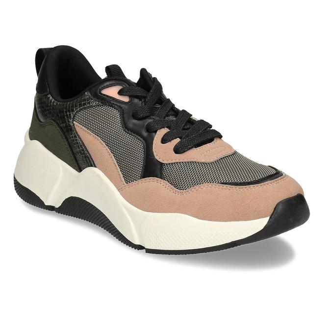 Černo-růžové dámské Chunky tenisky bata, vícebarevné, 549-5601 - 13