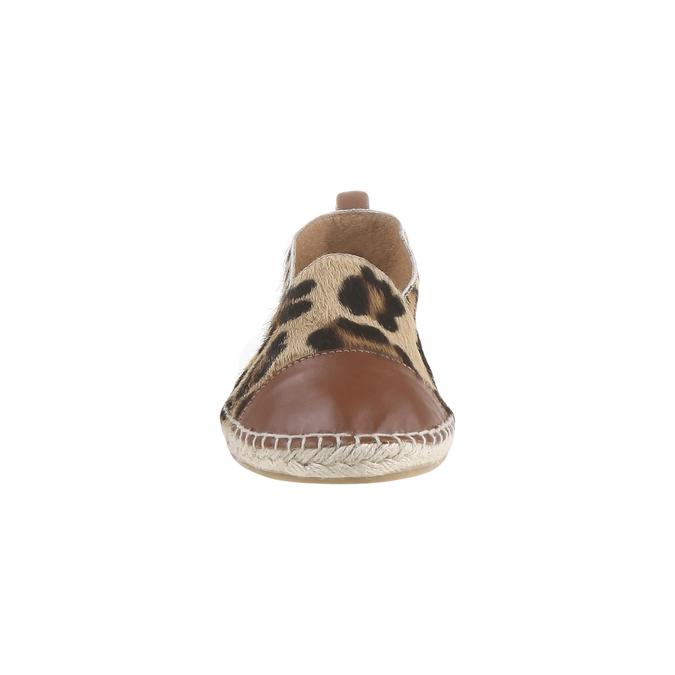 Výjimečné espadrilky s motivem leopardí kůže bata, hnědá, 2018-555-4300 - 16