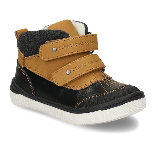 Dětská kotníková obuv se suchým zipem bubblegummers, hnědá, 111-4723 - 13
