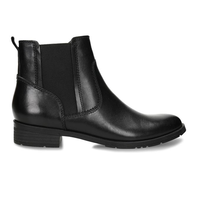Dámská kožená Chelsea obuv černá bata, černá, 594-6704 - 19