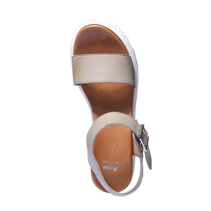 Trendy sandály na flatformě bata, béžová, 2019-764-2274 - 19