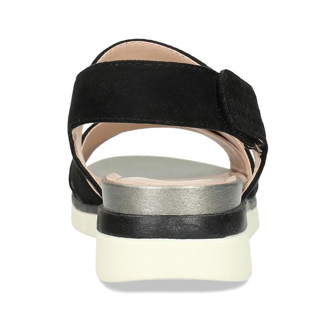 Dámské černé sandály na suchý zip bata, černá, 569-6605 - 15