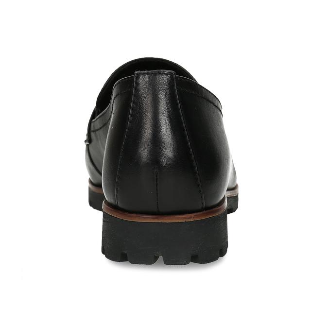 MOKASÍNY DÁMSKÉ ČERNÉ KOŽENÉ S DŘEVĚNÝM LEMEM bata, černá, 534-6603 - 15