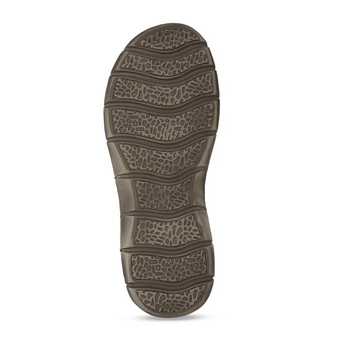 Šedé pánské kožené sandály ve sportovním střihu weinbrenner, šedá, 866-4604 - 18