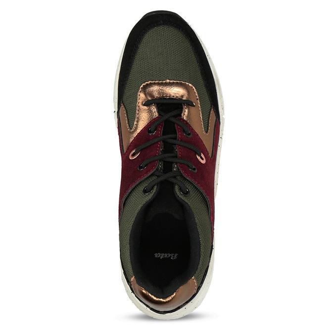 Dámské Chunky tenisky vícebarevné bata, zelená, 541-7601 - 17
