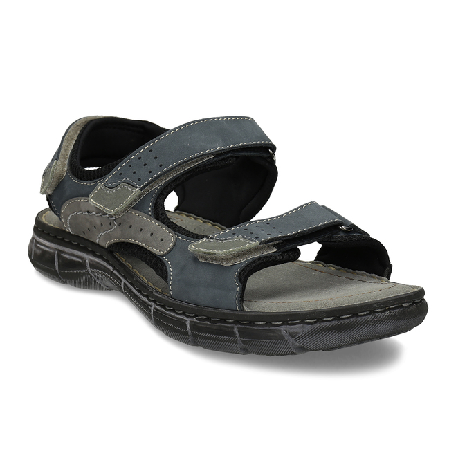 Pánské kožené sandály na suchý zip weinbrenner, modrá, 866-9603 - 13