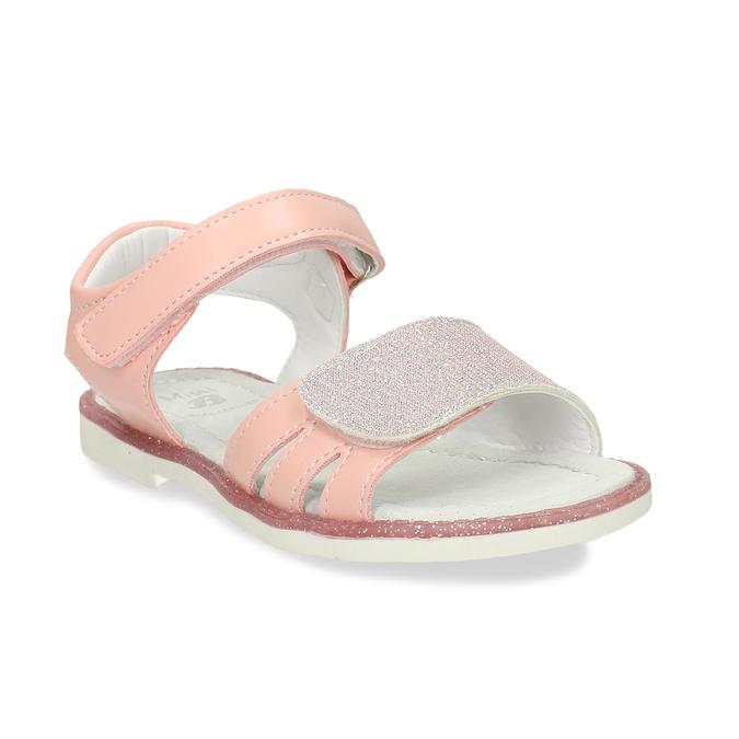 Růžové dětské sandály na suché zipy mini-b, růžová, 261-5601 - 13