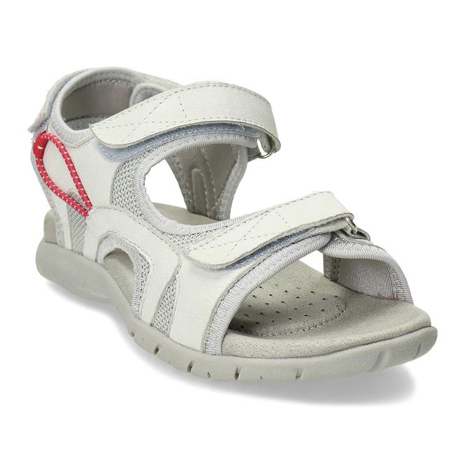 Dámské kožené bílé sandály weinbrenner, bílá, 564-1615 - 13