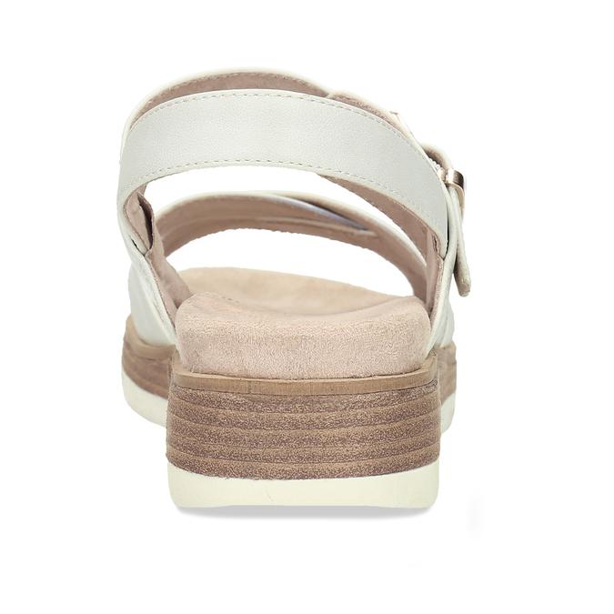 Dámské páskové sandály na platformě bata, bílá, 561-1605 - 15