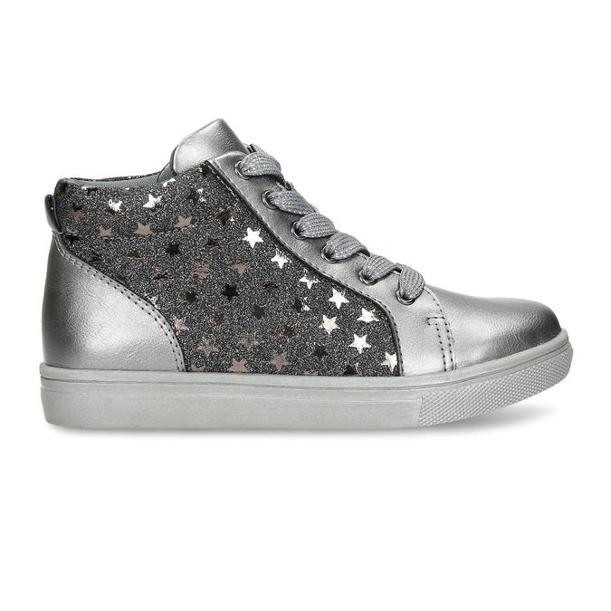 Stříbrné dívčí kotníkové tenisky mini-b, šedá, 221-2603 - 19