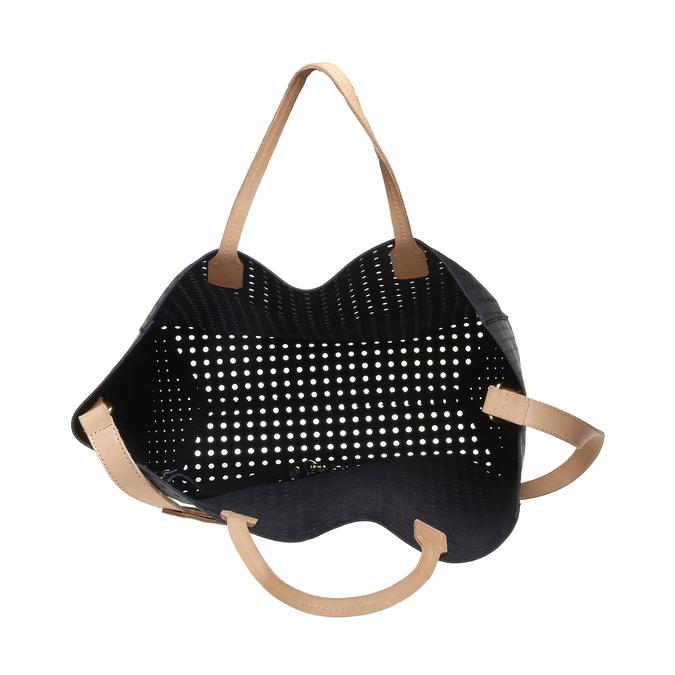 Kožená kabelka ve svěžím designu bata, černá, 2018-964-6130 - 15