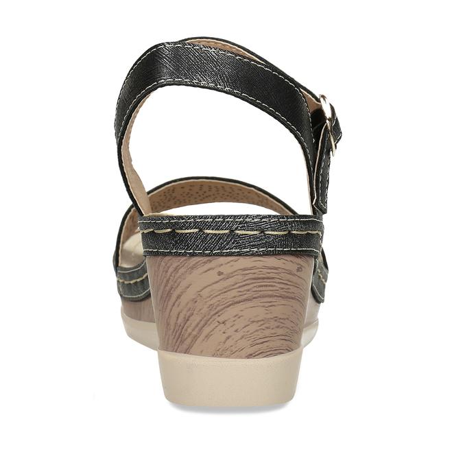 Dámské sandály na platformě comfit, černá, 661-6633 - 15