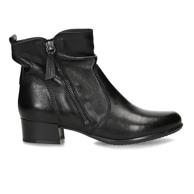 Kožená dámská kotníková obuv černá bata, černá, 594-6692 - 19