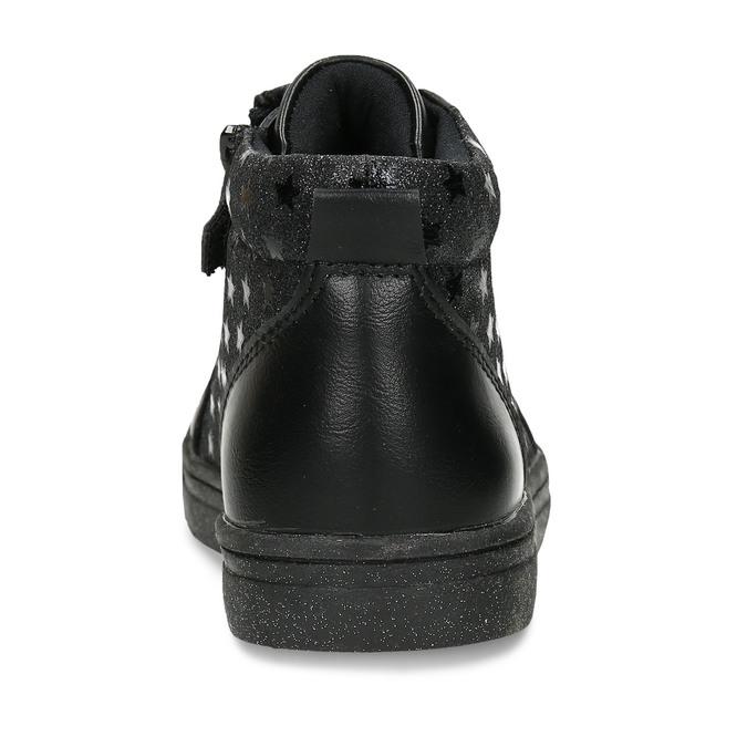 Černé dívčí kotníkové tenisky s hvězdami mini-b, černá, 221-6603 - 15