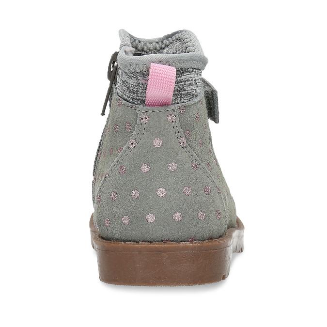 Kotníková dětská obuv s puntíky bubblegummers, šedá, 124-2725 - 15