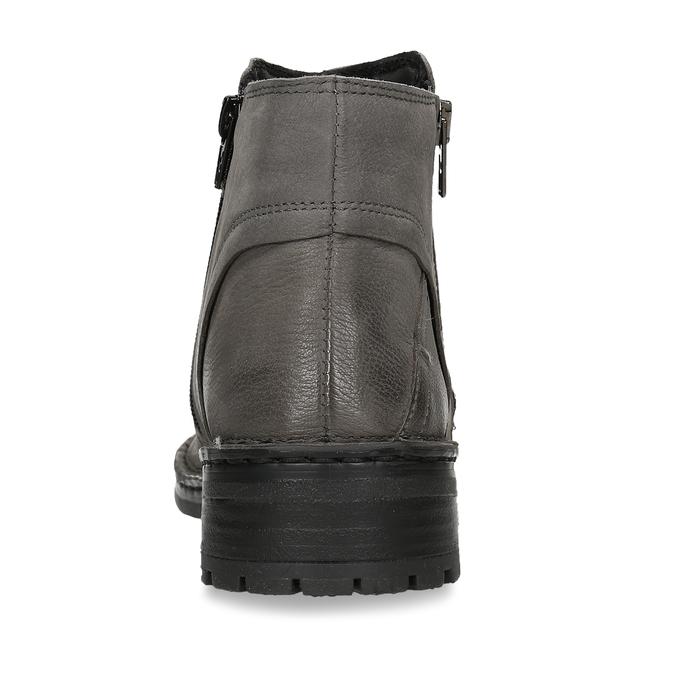 Dámské kotníkové boty z šedé kůže bata, šedá, 596-2609 - 15