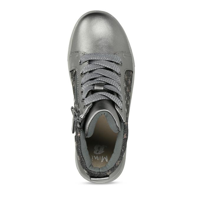 Stříbrné dívčí kotníkové tenisky mini-b, šedá, 221-2603 - 17