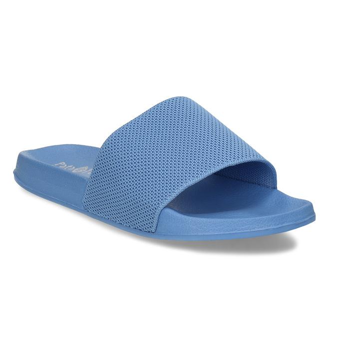 Modré chlapecké pantofle pata-pata, modrá, 479-9600 - 13