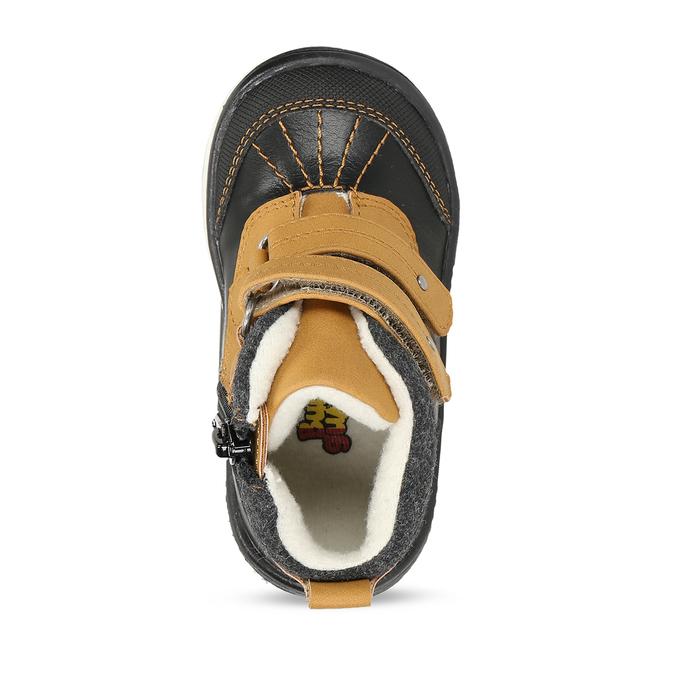 Dětská kotníková obuv se suchým zipem bubblegummers, hnědá, 111-4723 - 17