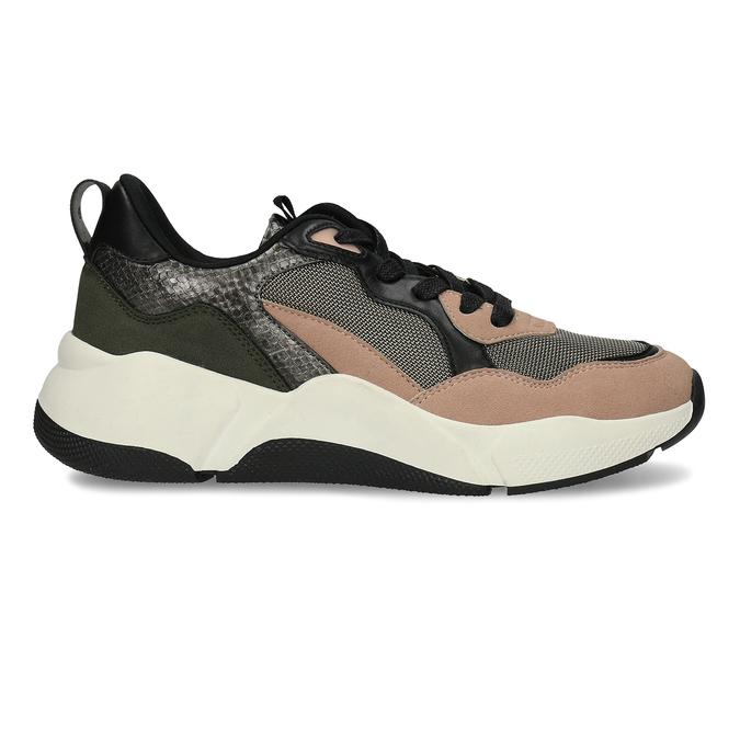 Černo-růžové dámské Chunky tenisky bata, vícebarevné, 549-5601 - 19