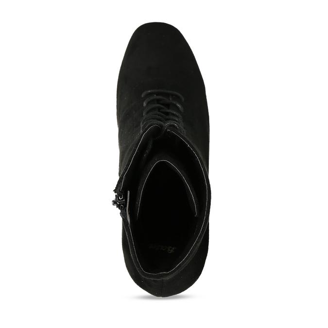 Černá dámská kotníková obuv se šněrováním bata, černá, 799-6613 - 17
