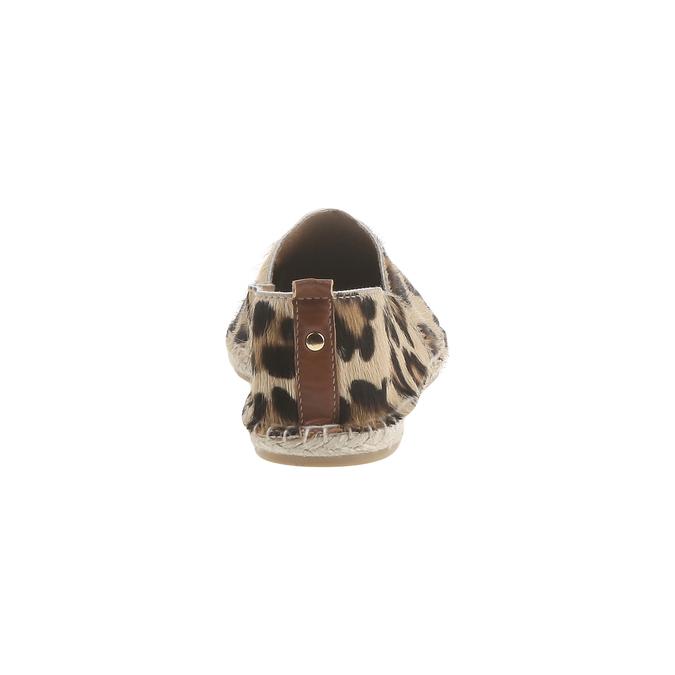 Výjimečné espadrilky s motivem leopardí kůže bata, hnědá, 2018-555-4300 - 17