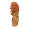 Oranžové dámské sandály na nízkém podpatku bata, oranžová, 664-3602 - 17