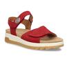 Červené dámské kožené sandály na hrubé podešvi gabor, červená, 563-5104 - 13