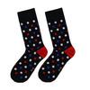 Pánské bavlněné tmavě modré ponožky s puntíky bata, modrá, 919-9662 - 26