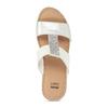 Kožené dámské pantofle na klínku bílé comfit, bílá, 566-1606 - 17