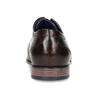 Tmavě hnědé pánské kožené polobotky bugatti, hnědá, 826-4932 - 15