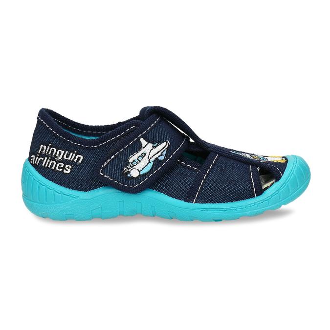 Chlapecké papuče s výšivkou mini-b, modrá, 179-9606 - 19