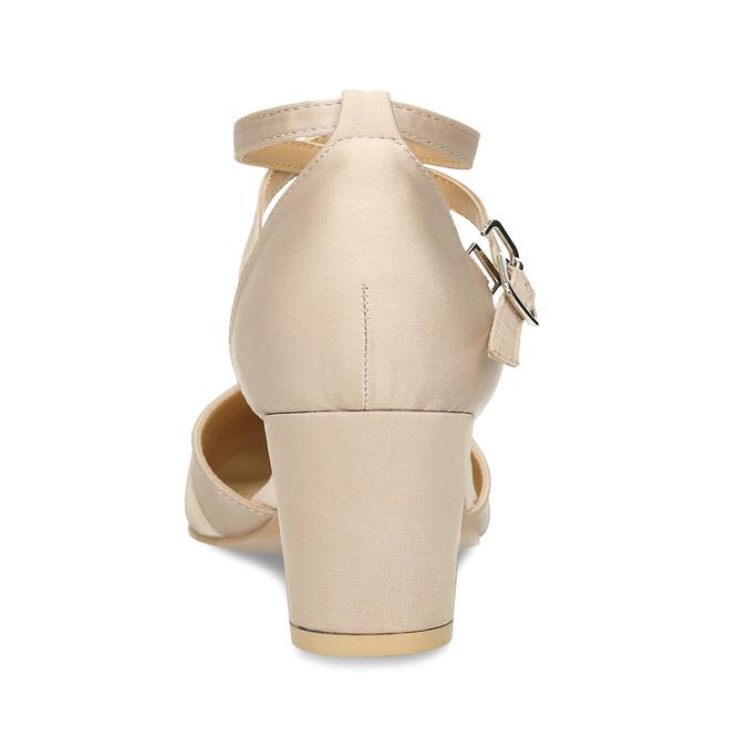 Dámské lodičky na nízkém podpatku béžové bata, béžová, 629-8608 - 15