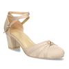Dámské lodičky na nízkém podpatku béžové bata, béžová, 629-8608 - 13