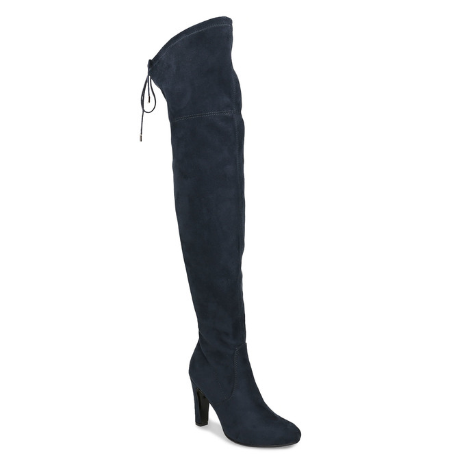 Modré dámské kozačky nad kolena bata, modrá, 799-9600 - 13