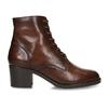 Šněrovací dámská obuv na podpatku v hnědé kůži bata, hnědá, 694-4620 - 19