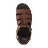 Hnědé pánské kožené sandály se zapínáním u kotníků bata, hnědá, 866-4606 - 17