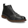 Pánská kožená Chelsea obuv černá bata, černá, 826-6714 - 13