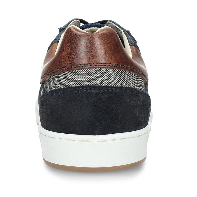 Pánské tenisky v černé kůži bata, modrá, 846-9724 - 15