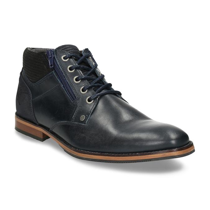 Kožená pánská kotníková obuv modrá bata, modrá, 826-9716 - 13