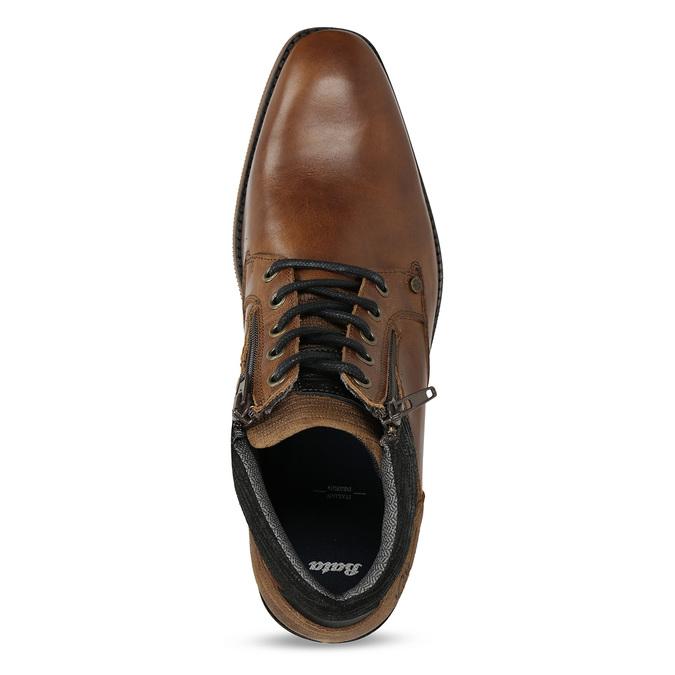 Hnědá pánská kotníková obuv kožená bata, hnědá, 826-3717 - 17