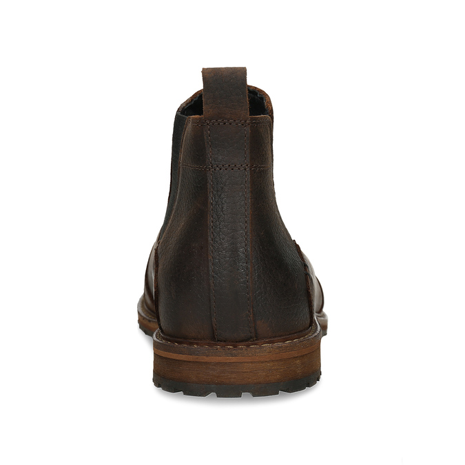 Hnědá pánská kožená Chelsea obuv bata, hnědá, 826-4713 - 15