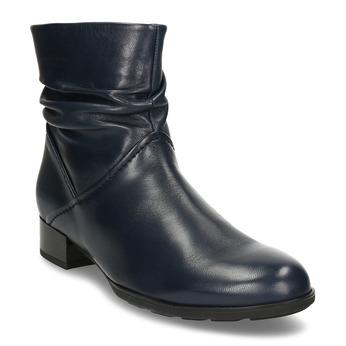 Modrá dámská kožená kotníková obuv gabor, modrá, 696-9101 - 13