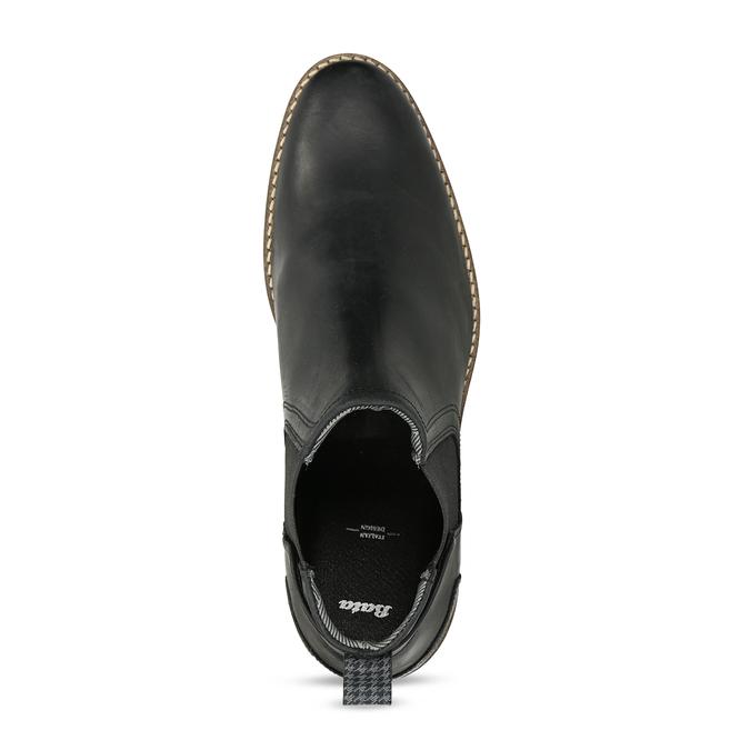 Černá pánská Chelsea obuv kožená bata, černá, 826-6712 - 17
